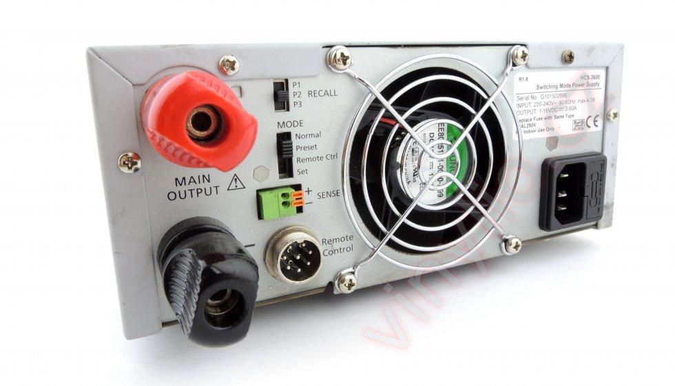 Laboratórny zdroj 1-16V/0-60A / HCS-3600