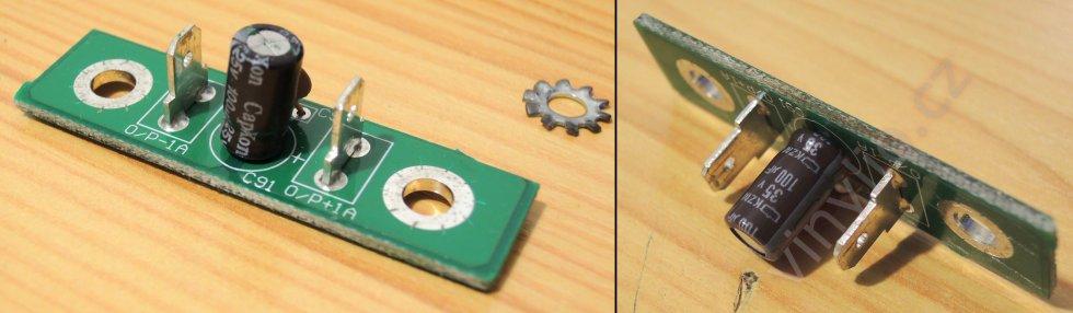 Laboratórny zdroj HCS-3600 - výmena CapXonu za Nippon na drobnom DPS predných svoriek