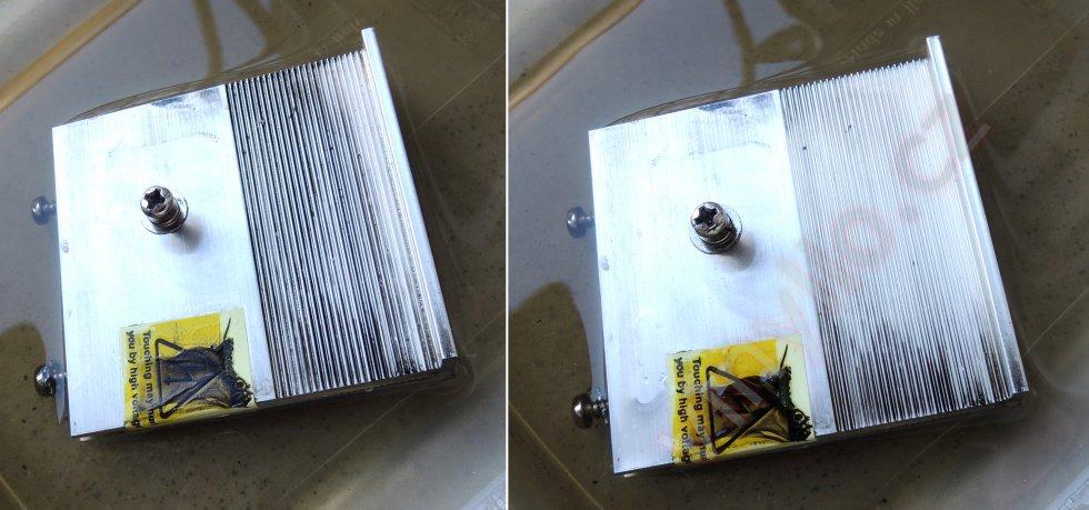 Laboratórny zdroj HCS-3600 - čistenie chladiča pre diódový mostík