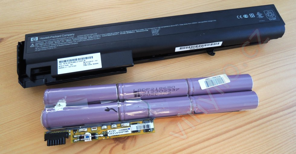 HP nx7400 - kompletné vnútro akumulátora (články, elektronika)
