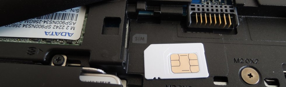 Notebook - SIM slot