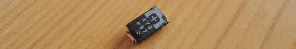 Pôvodný zlý kondenzátor v skrate