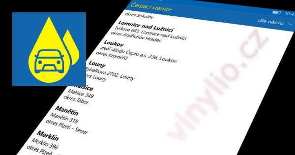 Aplikácia EuroOil pre Windows 10